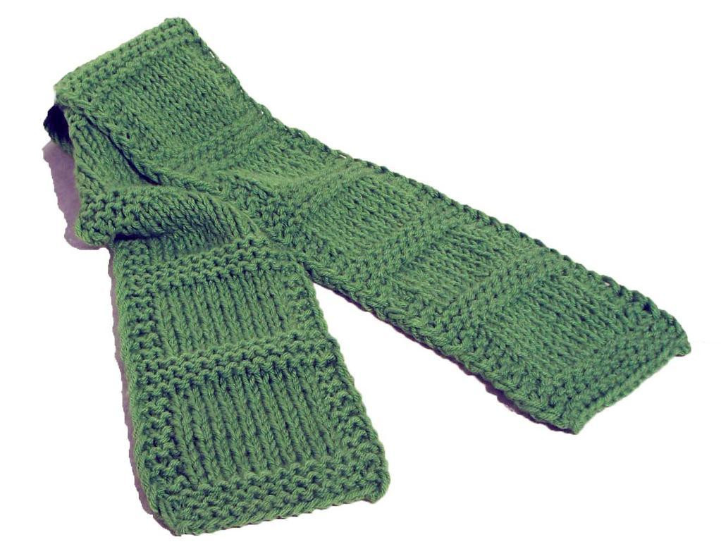 easy knitting patterns for beginners scarf