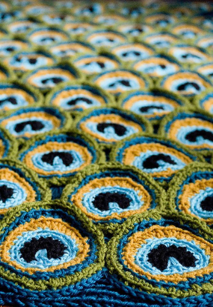 Fresh Editor S Inspiration A Bright Peacock Blanket for the Peacock Crochet Blanket Of Amazing 42 Photos Peacock Crochet Blanket