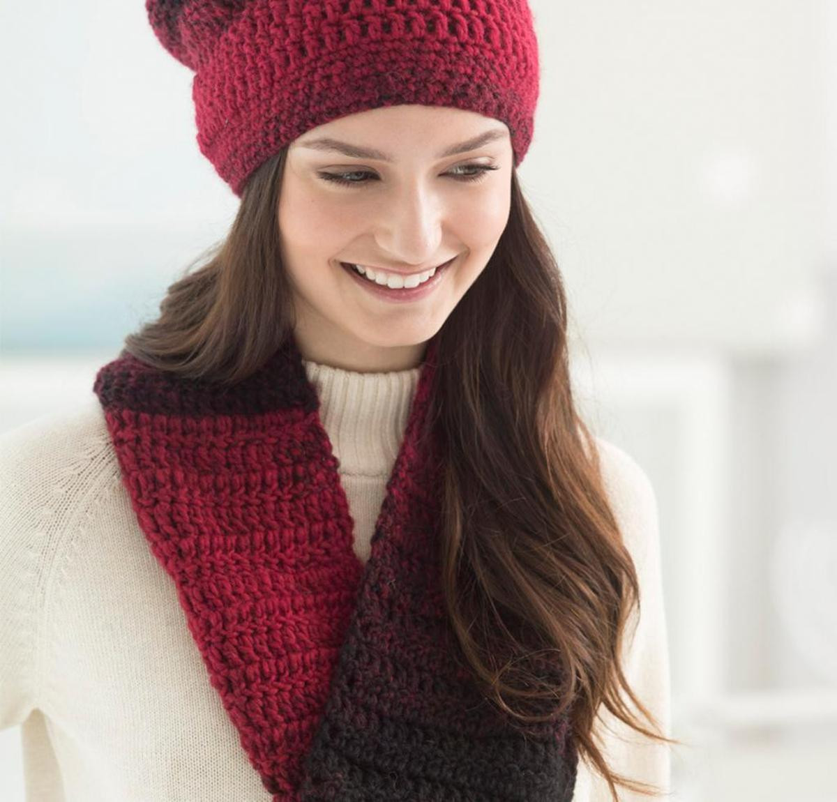 Effortless Hat and Cowl Crochet Kit