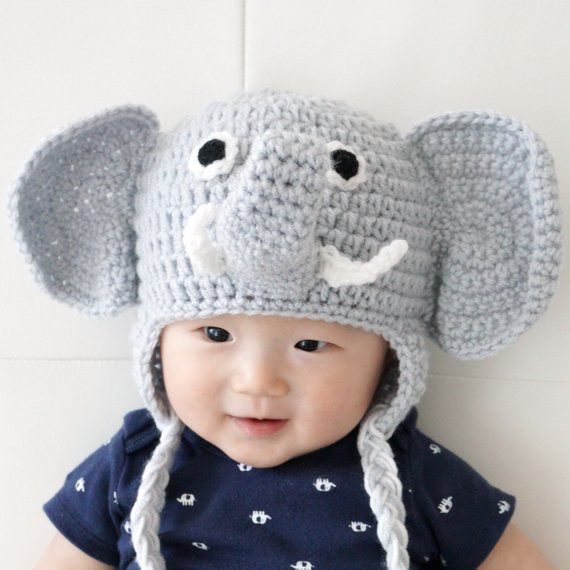 Fresh Elephant Hat Crochet Baby Hat Animal Baby Hat Photo Prop Baby Animal Hats Of Attractive 49 Images Baby Animal Hats