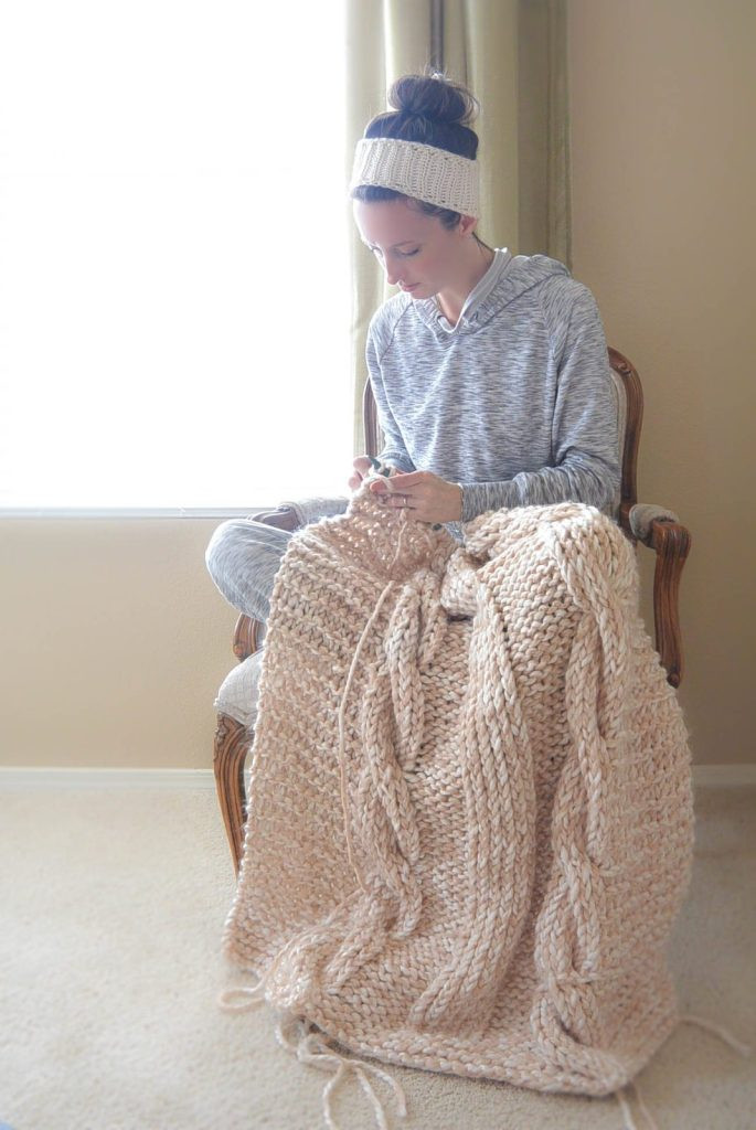Fresh Endless Cables Chunky Knit Throw Pattern Easy Knit Afghan Patterns Of Great 40 Pictures Easy Knit Afghan Patterns