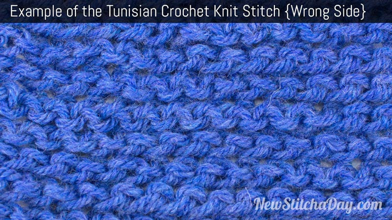 Fresh Example Of the Tunisian Crochet Knit Stitch Wrong Side Tunisian Crochet Knit Stitch Of Superb 46 Pictures Tunisian Crochet Knit Stitch