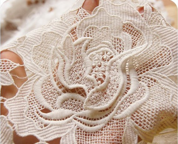 Fresh F White Crocheted Lace Fabric with 3d Peony Bridal Lace Crochet Lace Fabric Of Attractive 45 Images Crochet Lace Fabric
