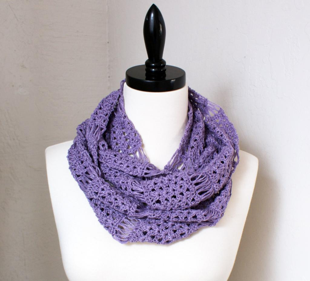 Fresh Fabulous Broomstick Lace Crochet Projects On Craftsy Lace Infinity Scarf Of Charming 45 Ideas Lace Infinity Scarf