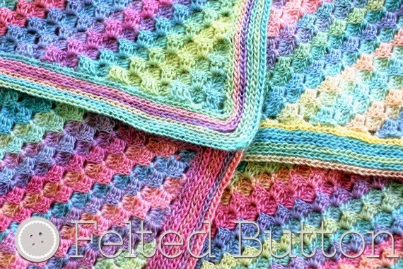 Fresh Felted button Colorful Crochet Patterns Spring Into Baby Blankets for Summer Of Gorgeous 48 Pictures Baby Blankets for Summer