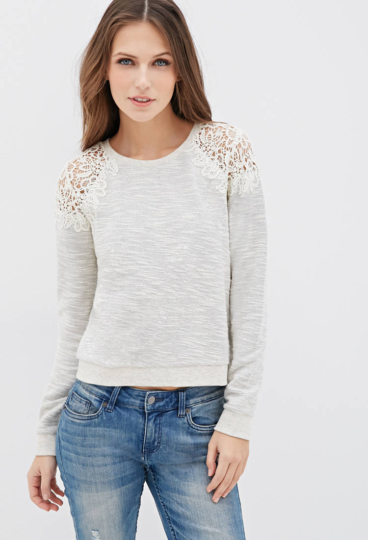 Fresh forever 21 Marled Crochet top You Ve Been Added to the Crochet tops forever 21 Of Beautiful forever 21 Scalloped Crochet top In Beige Cream Crochet tops forever 21