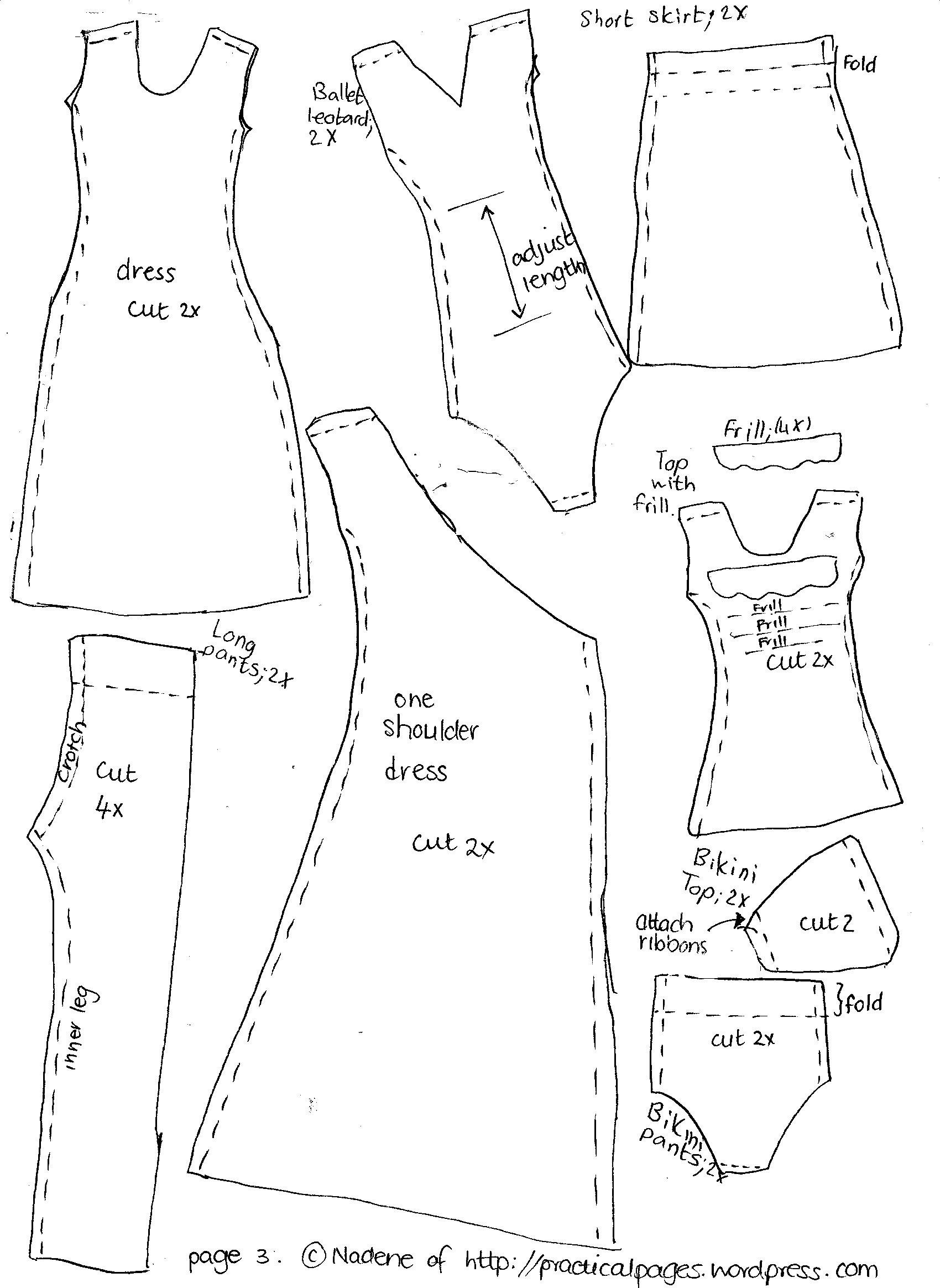 Free Barbie Doll Clothes Patterns