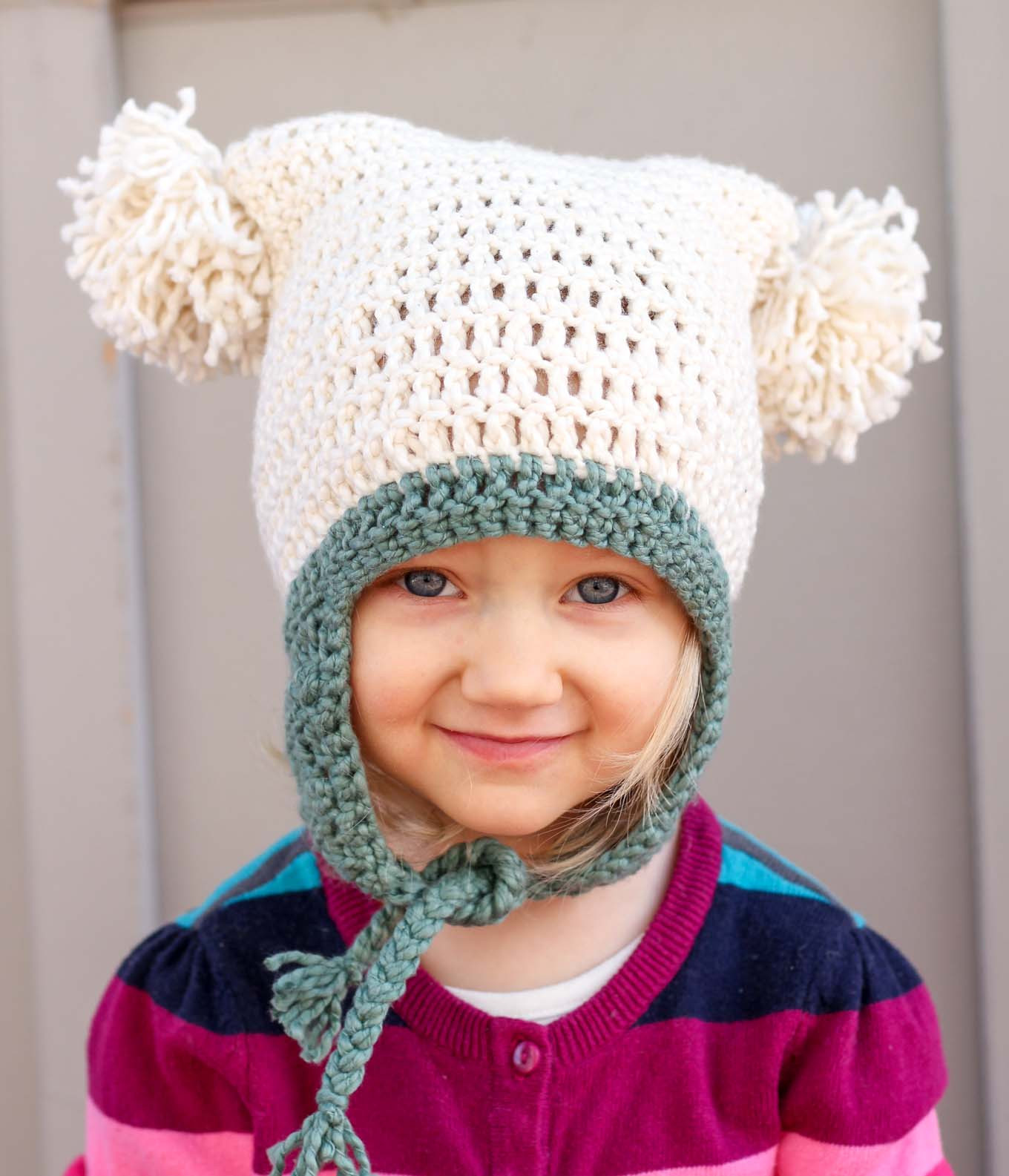 "Fresh Free Beginner Crochet Beanie Hat Pattern ""pom Pom Party"" Crochet toddler Hat Pattern Of Delightful 40 Ideas Crochet toddler Hat Pattern"