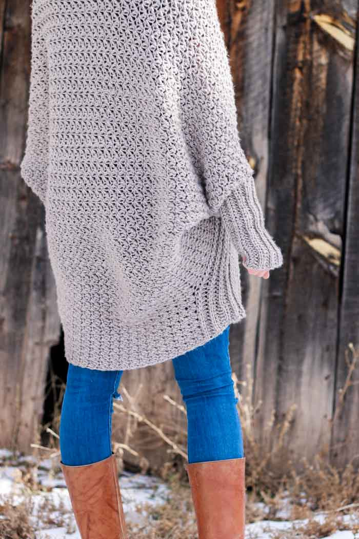 Free Beginner Crochet Sweater Pattern Tutorial Flowy