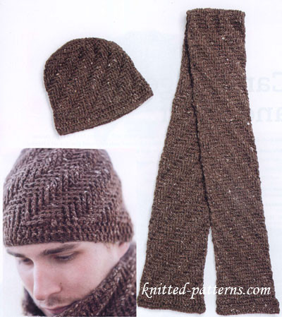 Free crochet men s hat and scarf patterns