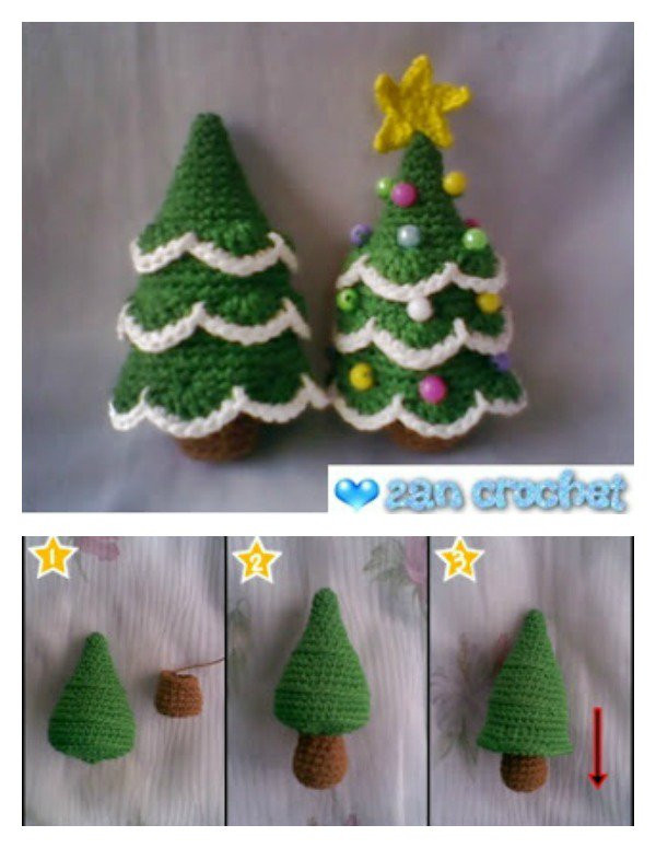 Fresh Free Crochet Patterns for Xmas Trees Dancox for Crochet Christmas Trees Of Marvelous 46 Ideas Crochet Christmas Trees