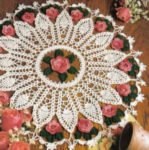 Fresh Free Crochet Rose Tablecloth Pattern Dancox for Crochet Kingdom Of Gorgeous 50 Pictures Crochet Kingdom