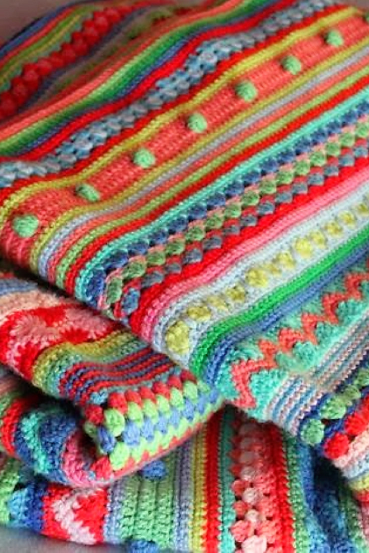 Fresh [free Pattern] Such A Fun Project This Stripey Blanket is Afghan Stitch Patterns Of Beautiful 50 Pics Afghan Stitch Patterns