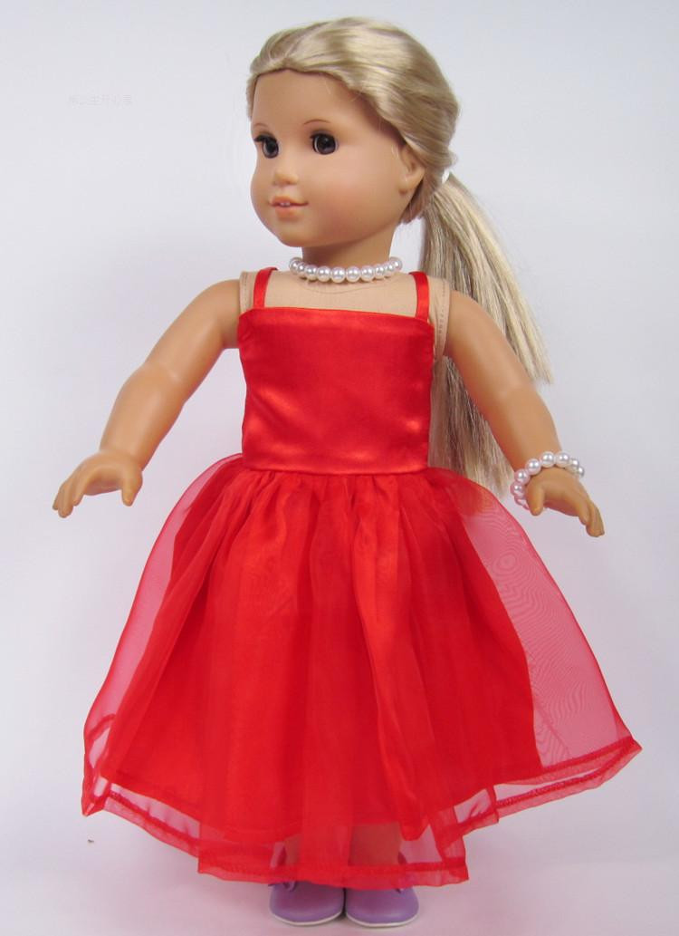 """Fresh Free Shipping Hot 2014 New Style Popular 18"""" American American Girl Christmas Dress Of Lovely 47 Models American Girl Christmas Dress"""