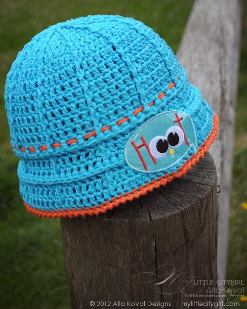 Give a Hoot Crocheted Hat Free pattern for Kids and Adult