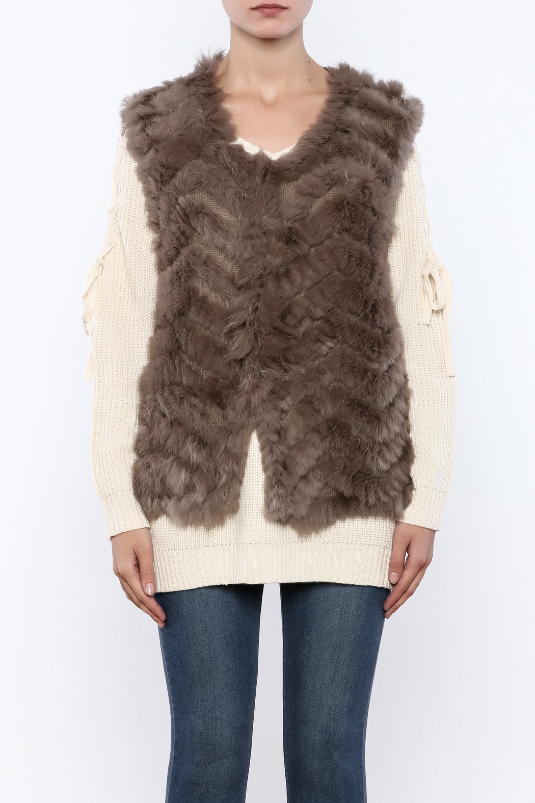 Fresh Gwbg Knit Fur Vest From Manhattan by Dor L Dor — Shoptiques Knitted Vest Of Great 48 Pics Knitted Vest