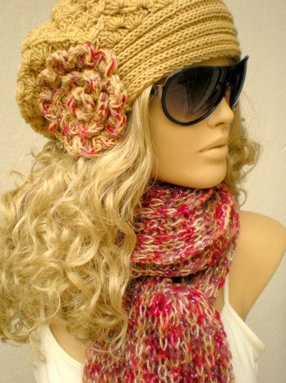 Fresh Hand Crocheted and Knitted Hat and Scarf Set by Crochet Hat and Scarf Set Of Amazing 44 Models Crochet Hat and Scarf Set