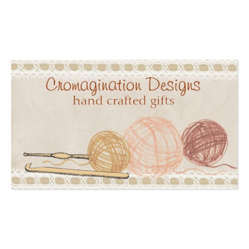 Fresh Hand Drawn Crayon Yarn Crochet Hooks T Tag Card Double Crochet Business Cards Of Superb 40 Photos Crochet Business Cards