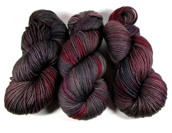 Fresh Hand Dyed Yarn Worsted Variegated Wine Red Dark Gray soft Red and Black Variegated Yarn Of Great 49 Pictures Red and Black Variegated Yarn