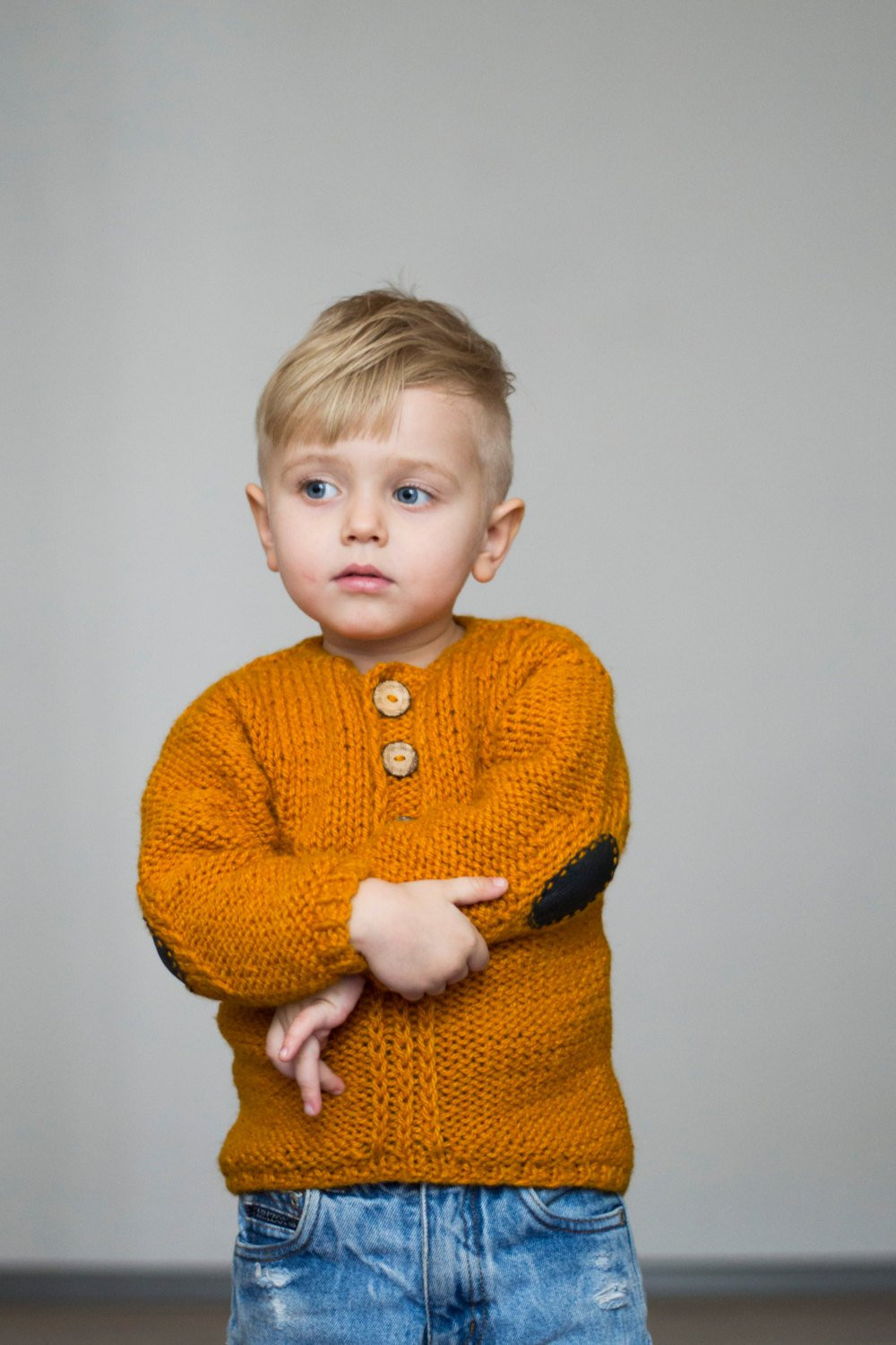 Fresh Hand Knit toddler Sweater with Elbow Patches by Ward Ward toddler Knit Sweater Of Incredible 43 Pics toddler Knit Sweater