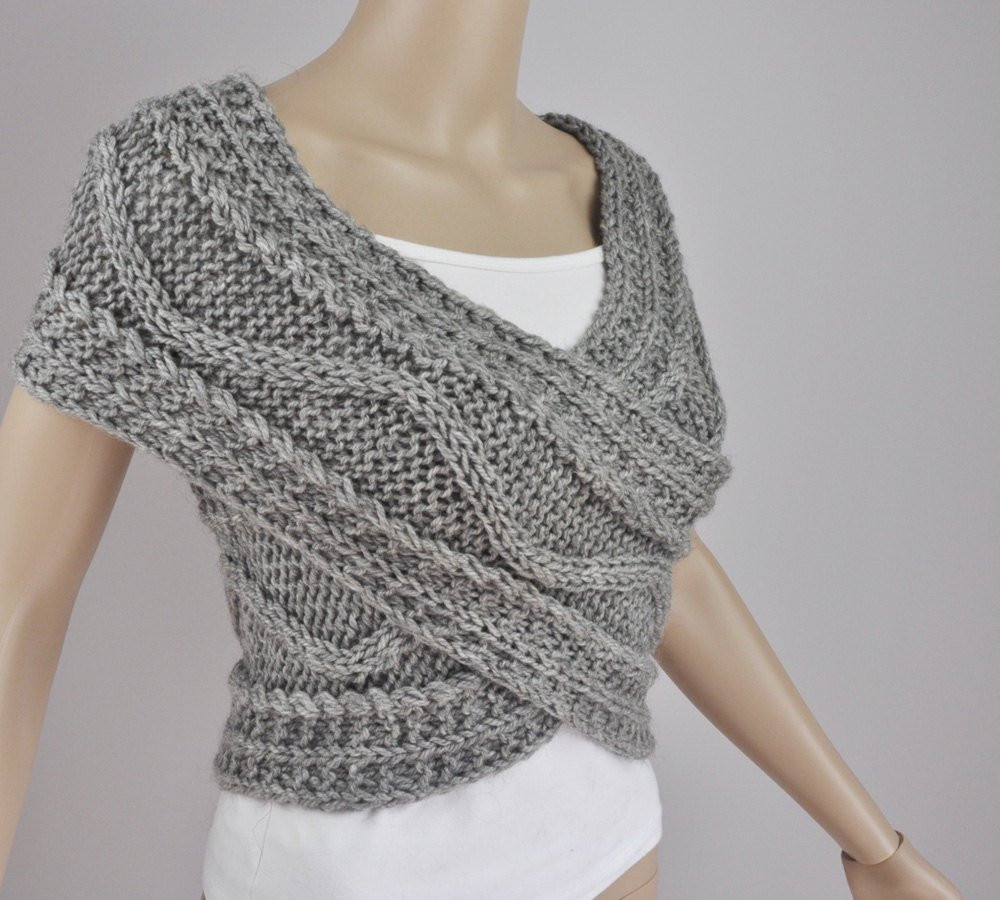 Fresh Hand Knit Vest Cross Sweater Capelet Neck Warmer In by Knitted Vest Of Great 48 Pics Knitted Vest