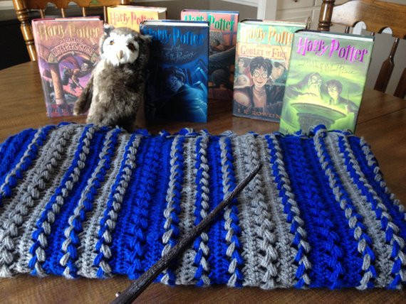 Fresh Harry Potter Ravenclaw Movie Inspired Full Length Afghan Harry Potter Crochet Blanket Of Luxury 42 Models Harry Potter Crochet Blanket