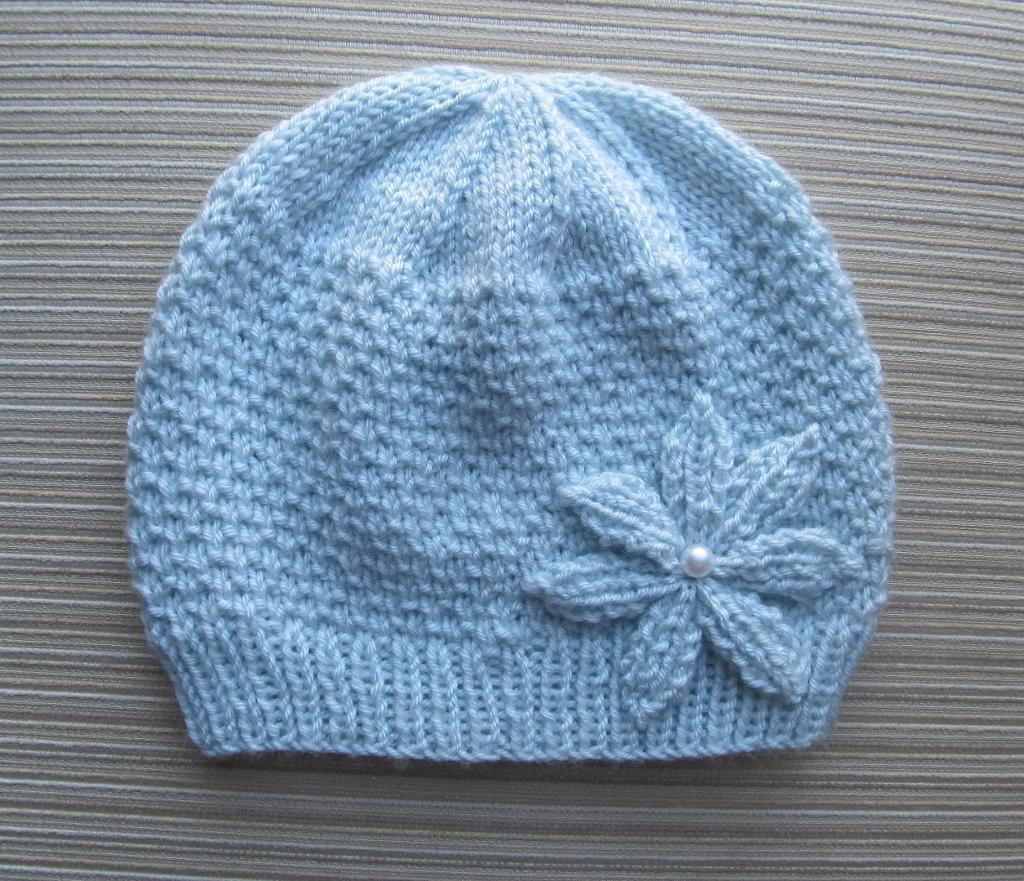 Fresh Hat with A Knitted Flower In Size Adult by Knittinkitty Adult Hat Knitting Pattern Of Awesome 47 Images Adult Hat Knitting Pattern