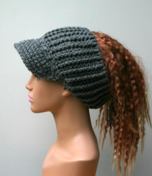Fresh Heather Gray Ponytail Hat Visor Dread Tube Cap Billed Ponytail Hats Free Patterns Of Incredible 42 Ideas Ponytail Hats Free Patterns