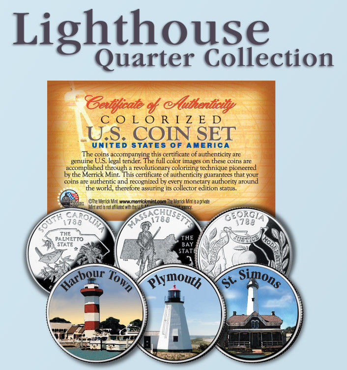 Fresh Historic American Lighthouses Colorized Us Statehood Us State Quarter Collection Of Charming 49 Ideas Us State Quarter Collection