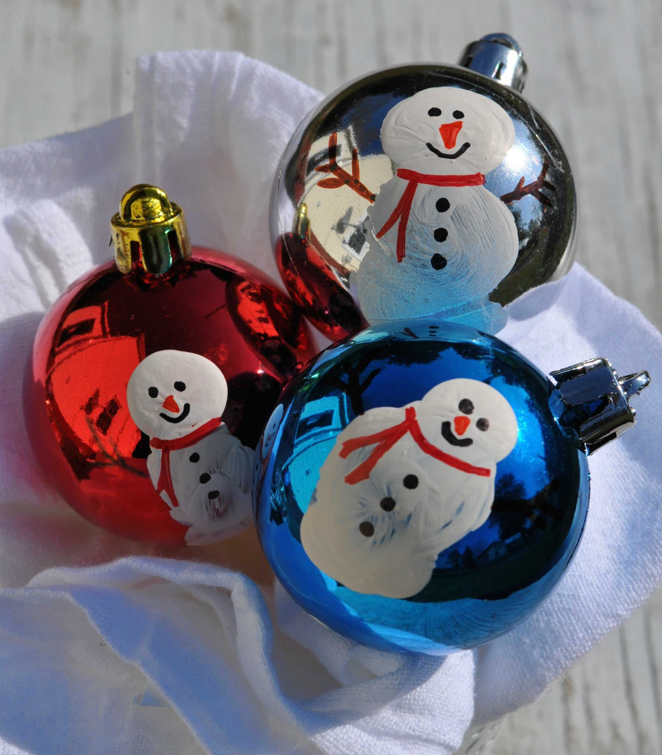 Fresh Homemade Christmas ornaments Thumbprint Snowmen the Snowman Christmas ornaments Of Adorable 45 Models Snowman Christmas ornaments