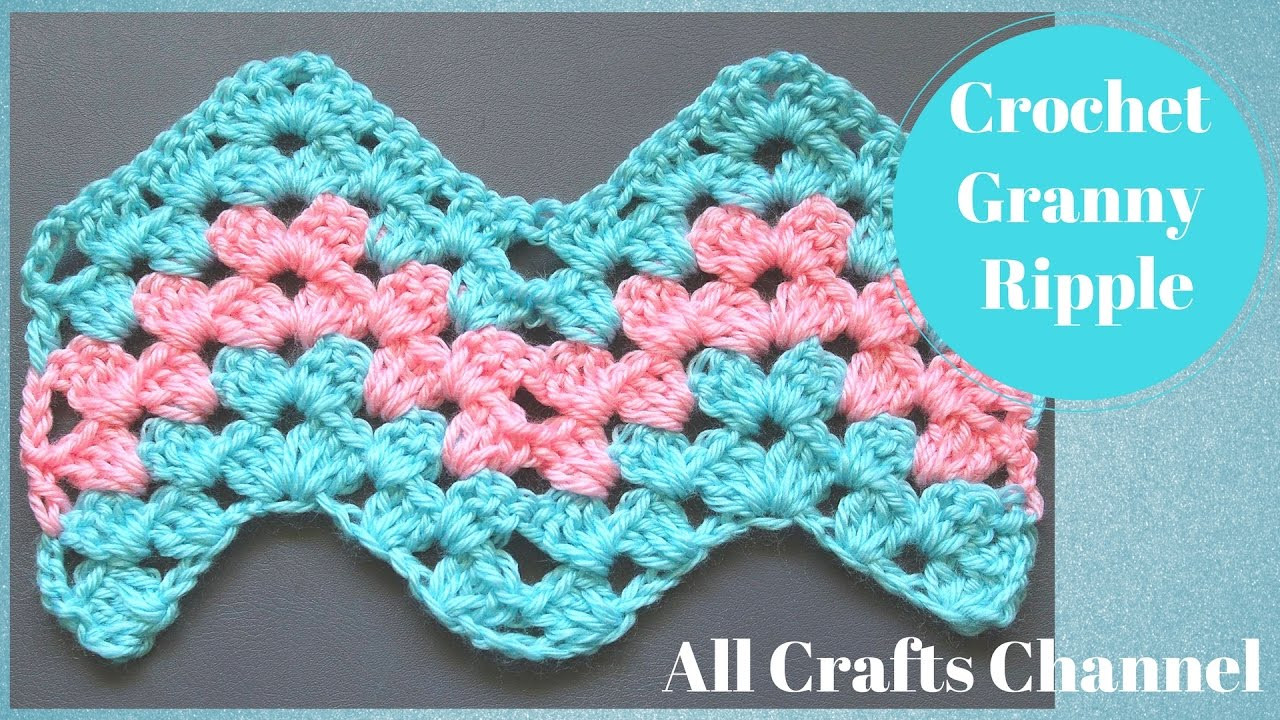 Fresh How to Crochet Granny Ripple Pattern Youtube Crochet Videos Of Lovely 45 Images Youtube Crochet Videos