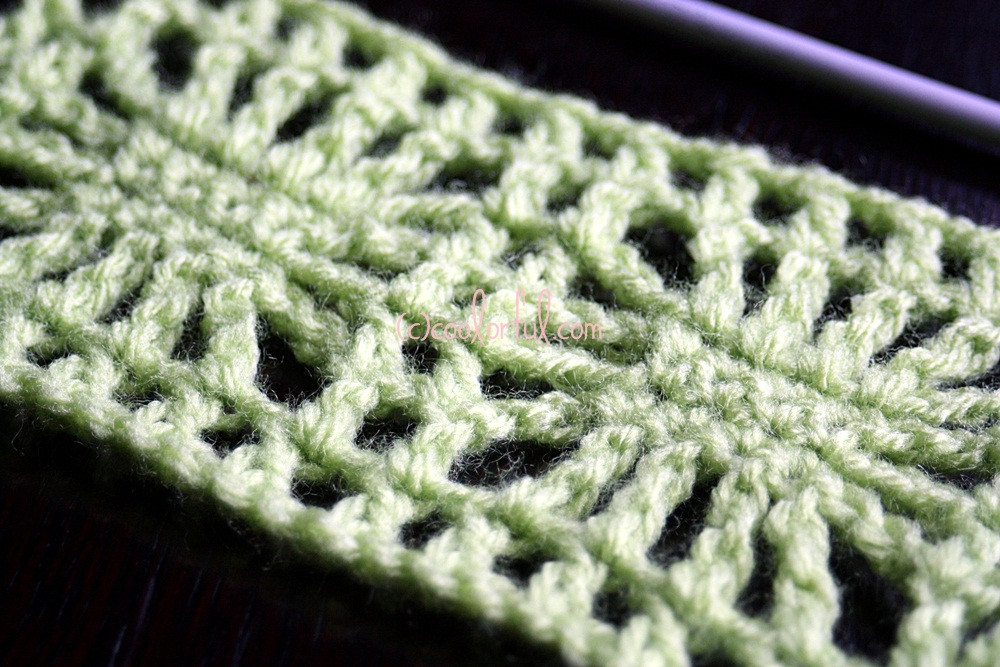 How to crochet the Spider Stitch – Coolorful