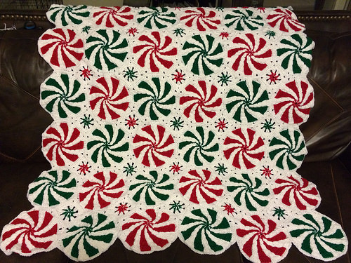 How to DIY Crochet Peppermint Afghan Throw Video