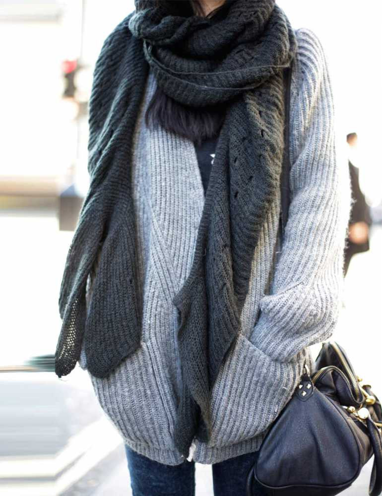 Fresh How to Wear the Oversized Scarf Trend Big Comfy Sweaters Of New 50 Pics Big Comfy Sweaters