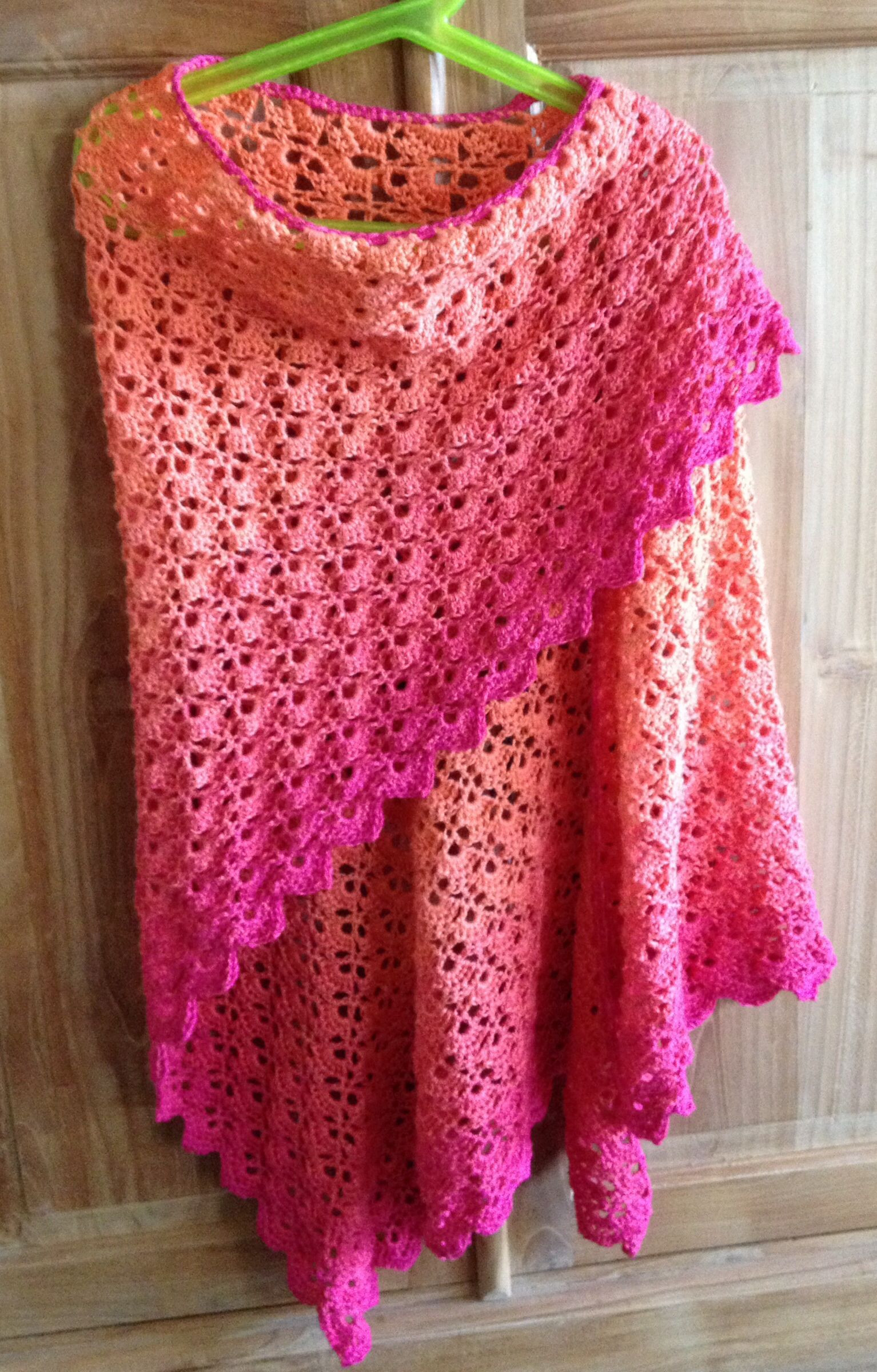 Fresh I Am totally In Love with the Ombre Look Of This Free Free Crochet Wrap Patterns Of Elegant Crochet Shawl Pattern Crochet Wrap with Pineapple Motif Free Crochet Wrap Patterns