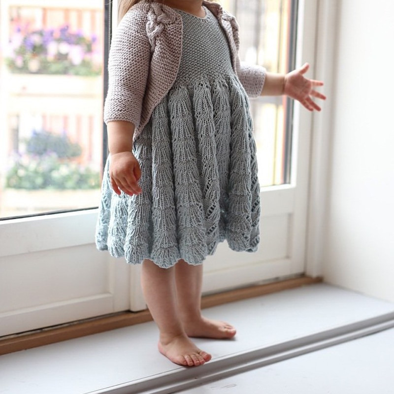 Fresh Infant Girl Knit Sleeveless Draped Dress Embroidery Baby Baby Girl Knitted Dress Of Incredible 47 Photos Baby Girl Knitted Dress