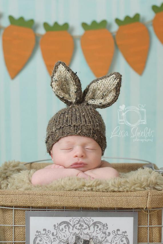 Fresh Items Similar to Bunny Hat Knit Newborn Baby Easter Baby Bunny Hat Of Brilliant 47 Pictures Baby Bunny Hat