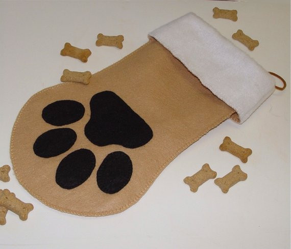 Fresh Items Similar to Christmas Stocking Pet Dog Paw Cat Paw Dog Paw Stocking Of Charming 44 Ideas Dog Paw Stocking