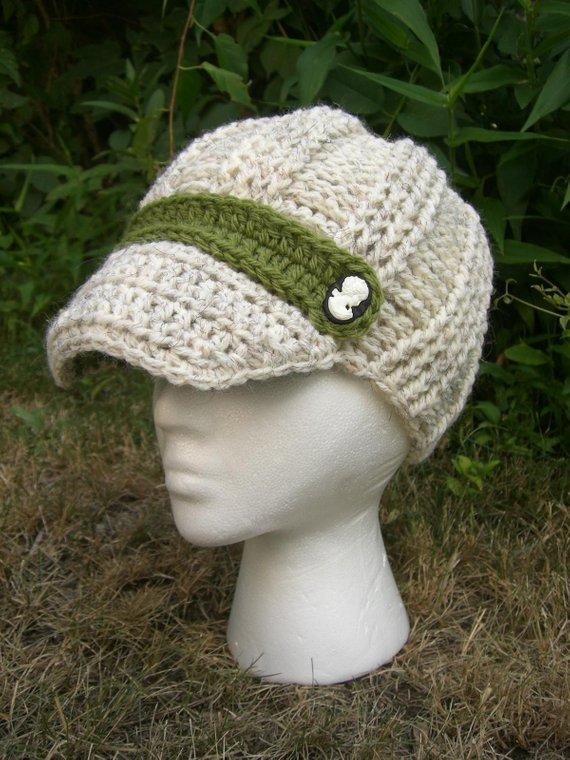 Fresh Items Similar to Cream Cable Knit Hat with Brim Olive Knit Hat with Brim Of Contemporary 48 Pictures Knit Hat with Brim