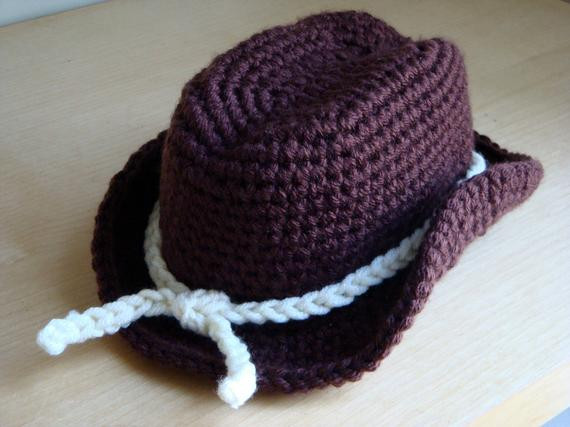 Items similar to Crochet Cowboy Hat graphy Prop