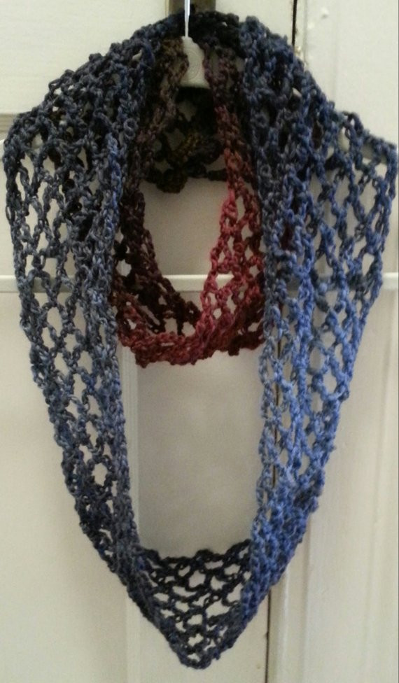 Fresh Items Similar to Crochet Pattern Scarf Lace Infinity Sale Lace Infinity Scarf Of Charming 45 Ideas Lace Infinity Scarf