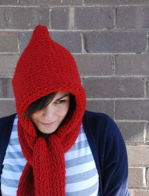 Fresh Items Similar to Hooded Scarf Learn to Knit Knitting Hooded Scarf Knitting Pattern Of Delightful 48 Pictures Hooded Scarf Knitting Pattern