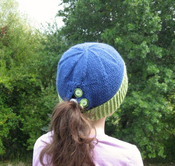 Fresh Items Similar to Ponytail Pony Tail Knit Hat Royal Blue Ponytail Knit Hat Of Top 46 Pictures Ponytail Knit Hat