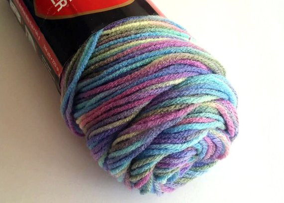 Items similar to Variegated Yarn Red Heart Super Saver
