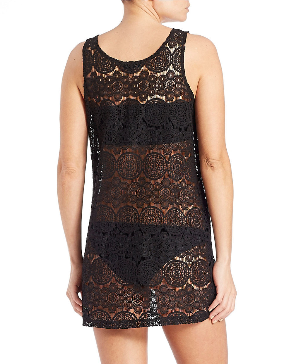 Fresh J Valdi Crocheted Cover Up In Black Black Crochet Cover Up Of Superb 42 Images Black Crochet Cover Up