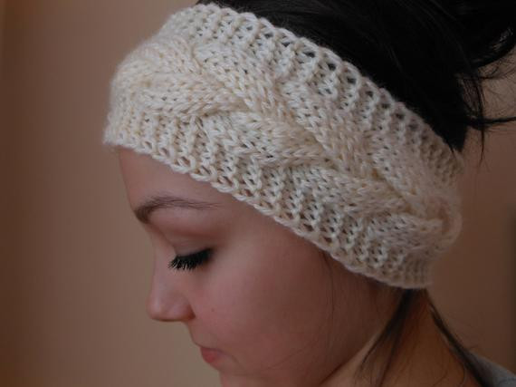 Fresh Knit Cable Headband Ear Warmer Head Warmer Cream Knitted Ear Warmers Of Unique 50 Images Knitted Ear Warmers