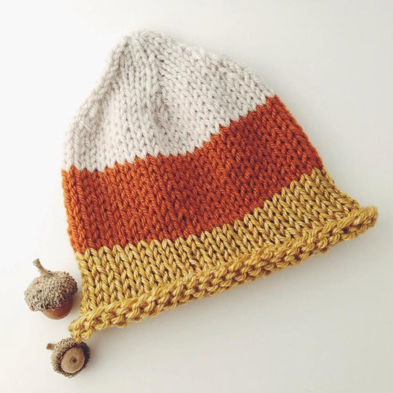 Fresh Knit Candy Corn Hat Fall Knit Hat Baby by Knittingprettyotfarm Candy Corn Hat Of Incredible 42 Pictures Candy Corn Hat