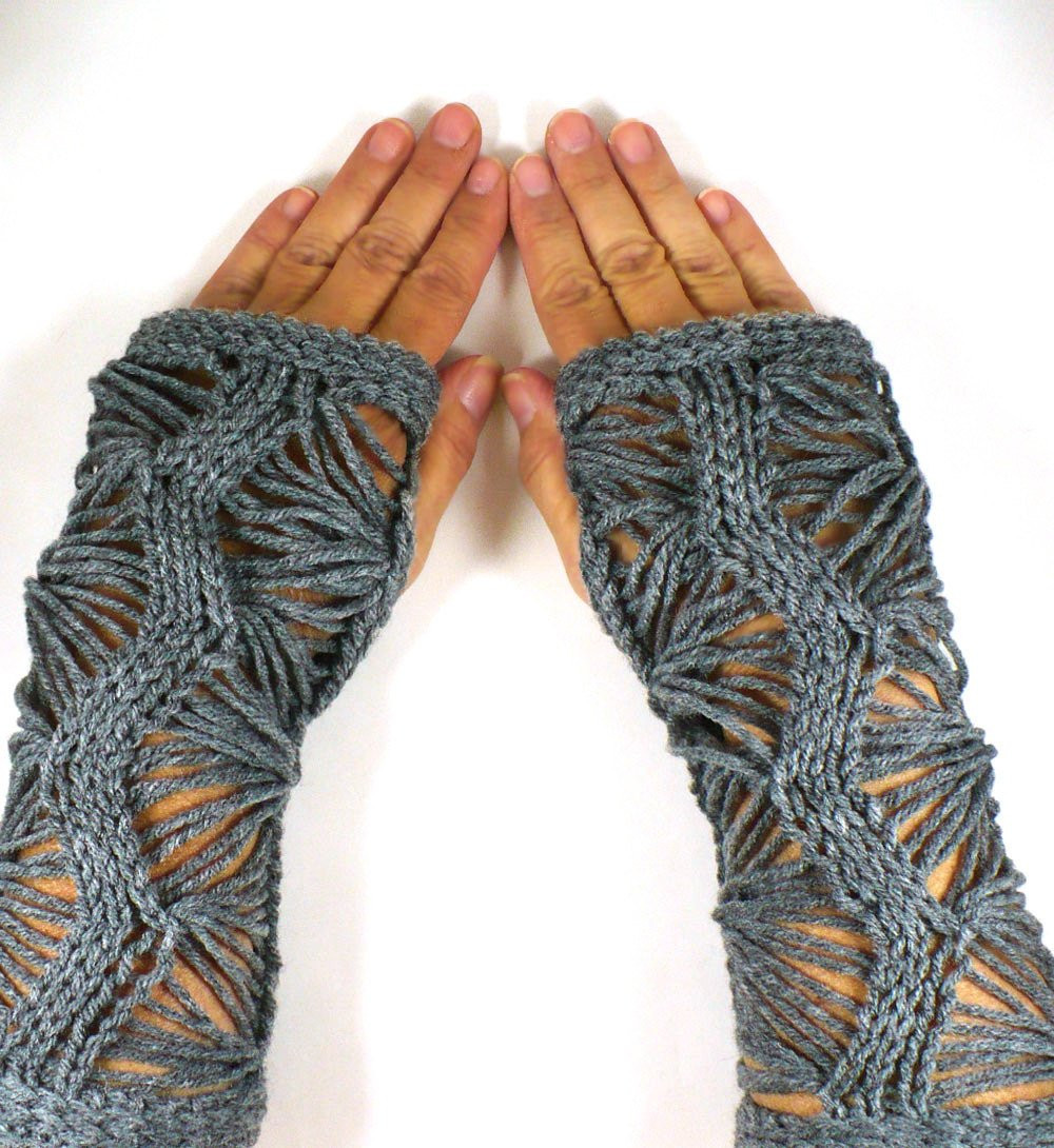 Fresh Knit Hand Warmers Gauntlets Knit Gothic Gloves Grey Lace Knit Arm Warmers Of Brilliant 41 Images Knit Arm Warmers