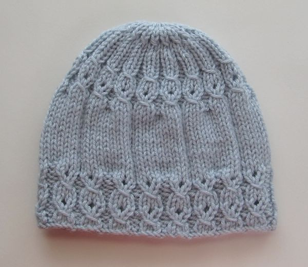 Knit Hat with Mock Cables in Size Adult