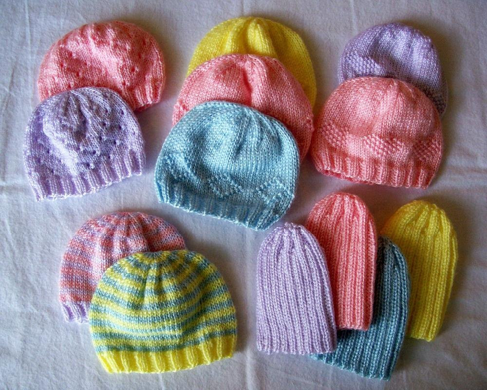 Fresh Knit some Preemie Hats for Charity the Spinners Husband Knitting Baby Cap Of Lovely 48 Photos Knitting Baby Cap